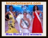 Miss World Botswana 2010 winners